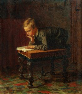 Eastman_Johnson_-_Reading_Boy