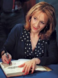 J.K. Rowling; author of the most popular modern book series, Harry Potter.